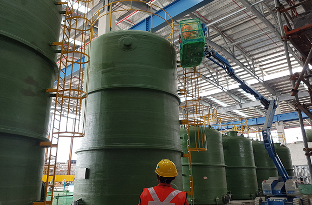 Tuas desalination project singapore mighty engineering